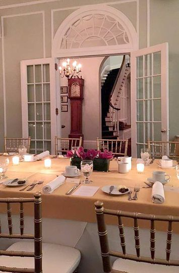 Warm table setting