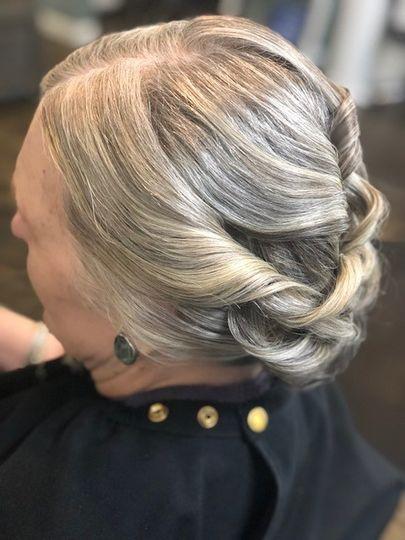 Elegant hair-do