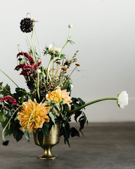 Wild and floral centerpiece