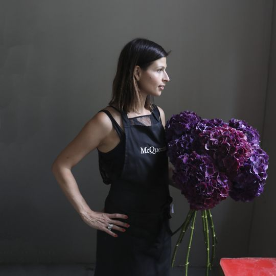 Sophie and her flowers