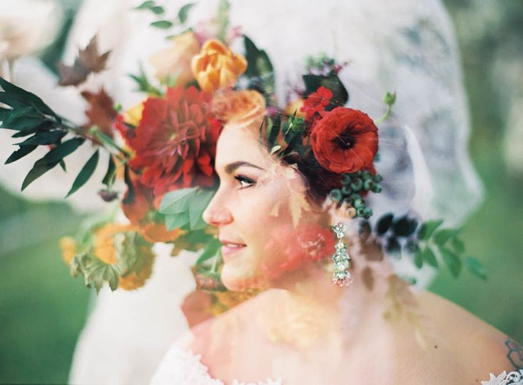Our Maui Bride - Double Exposure - married at the Maui Villa, Calasa Olive Farm , Kula