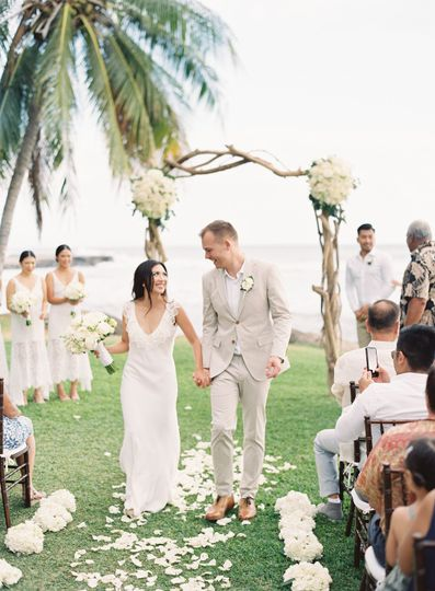 Just married at the Olowalu Plantation House, Maui