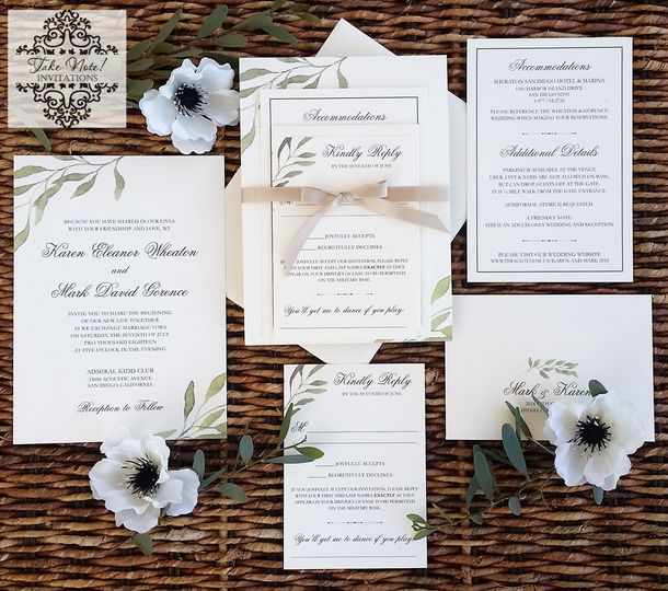 Wedding Invitations Invitation Suite With Greenery Details: Exquisite Tuscan Wedding Invitations At Websimilar.org