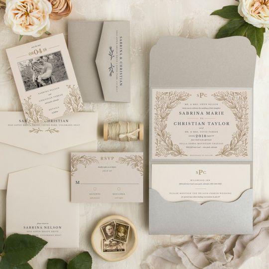 Pocket Style Invitation