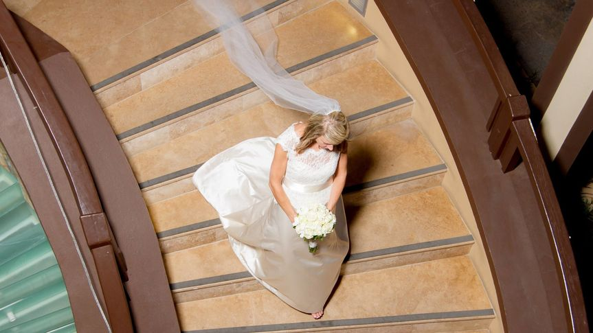 The bride from above