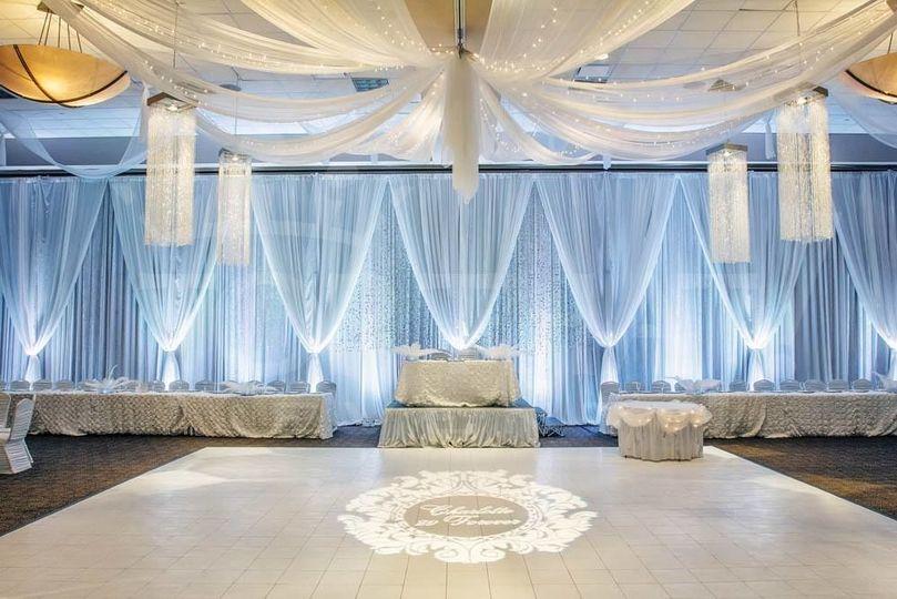 Diamond ballroom setup