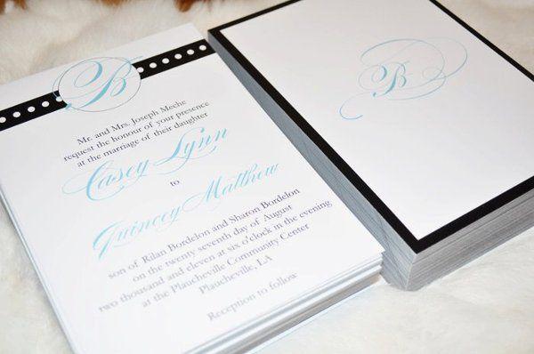 Custom design created for the Meche/Bordelon wedding