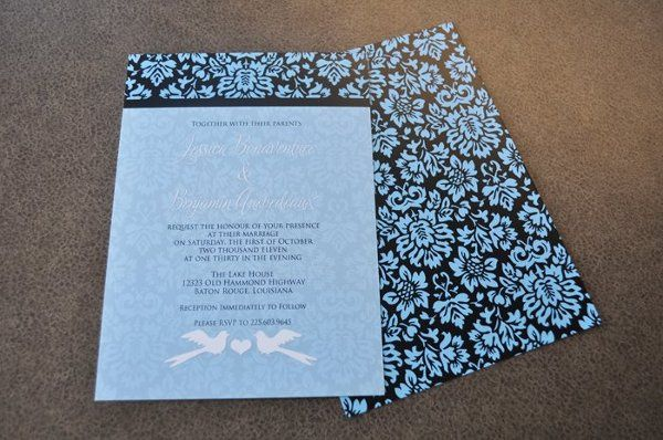 Custom design for the Bonaventure/Quebedeaux wedding