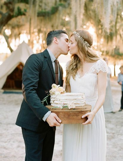 Vintage Campsite Wedding  Featured on