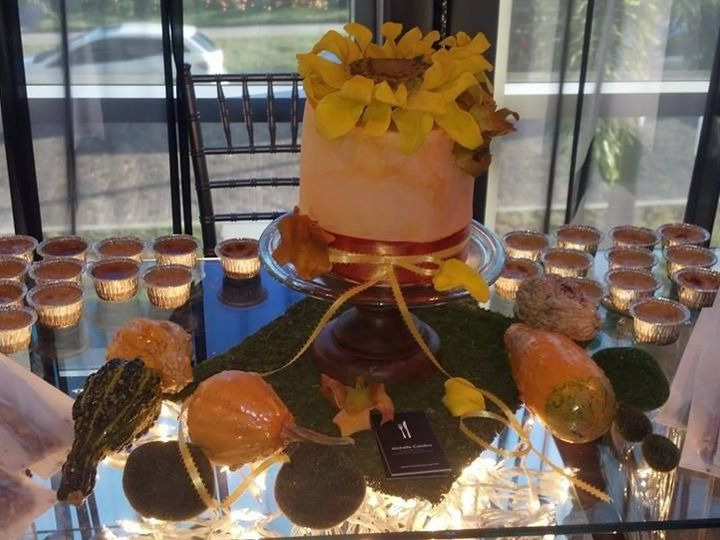 Tmx 1437091716632 Autumns Sunflower Dessert Table Oviedo wedding cake