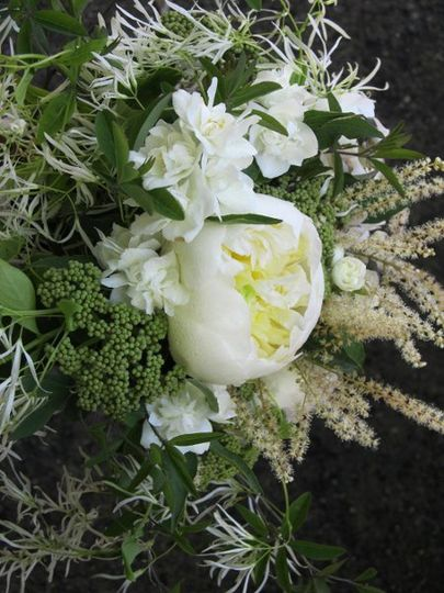 Spring white bouquet