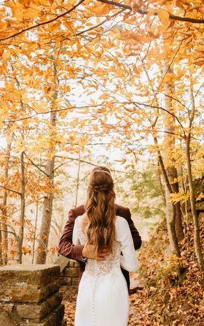Celebration in autumn leafs