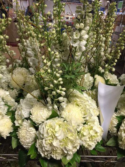 Hwite flowers