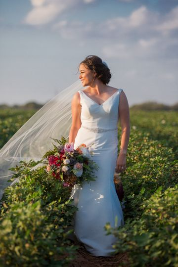 Bride in the field