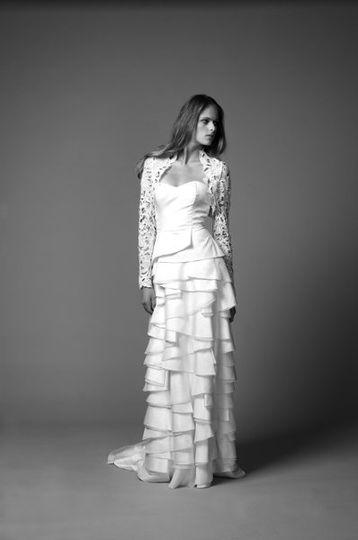 Leonella Long Dragon Dress, Selena Shrug