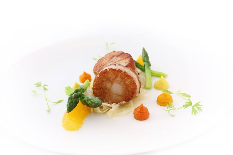 Scallops and heirloom carrots