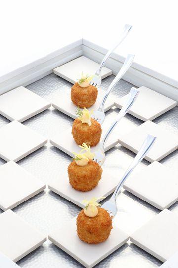 Mini crab cakes passed apps