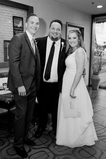 Officiant Eddie and couple!