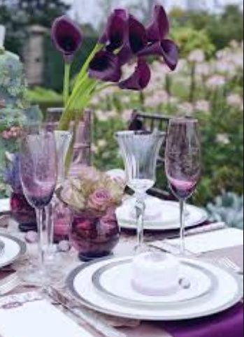 Tmx Purple Table Setting 51 1038867 East Orange, NJ wedding florist