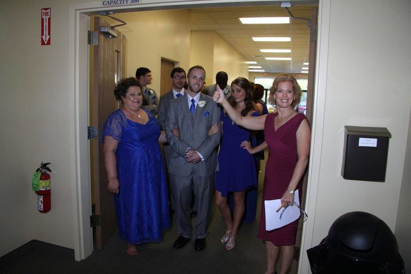 Bridal party line up
