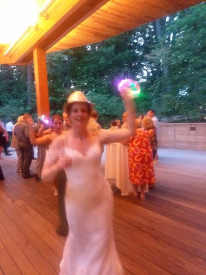 Bride at Bissell Treehouse