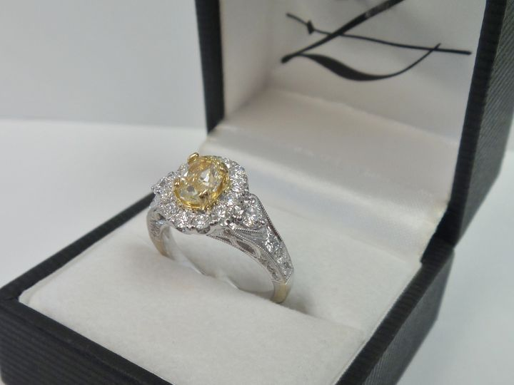 Tmx 1474919122955 Yellow Diamond Eng Ring Evansville wedding jewelry