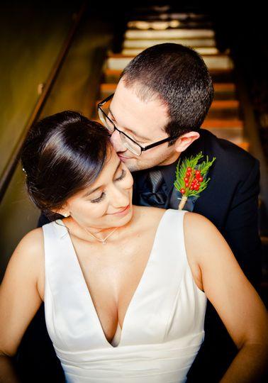 Groom Loving His Bride