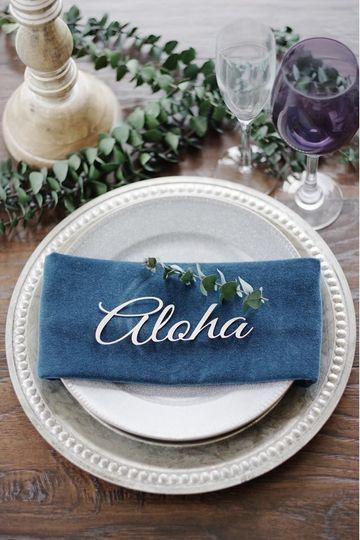 Aloha napkin