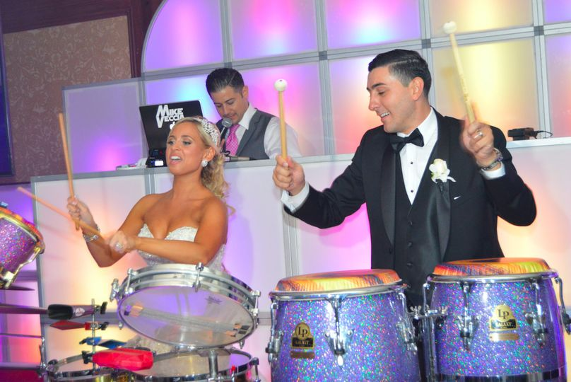 Couple photo on drums