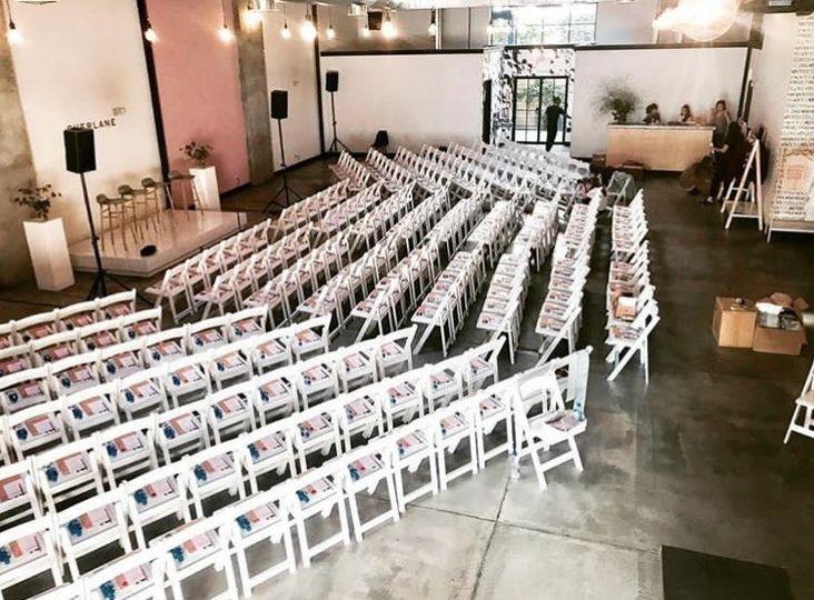 Chairs setup