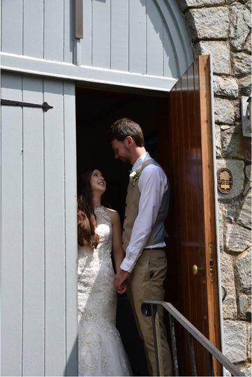 Couple in the Chapel Doorway