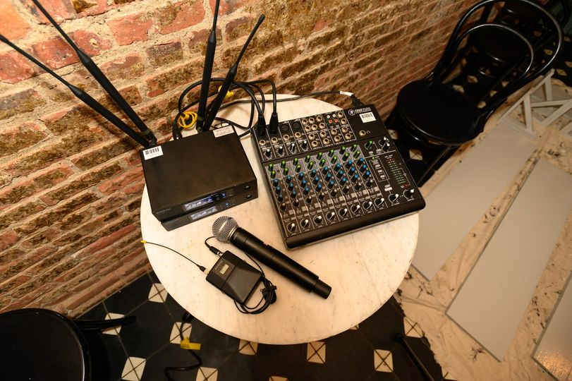 Wireless Mic and Mixer Package
