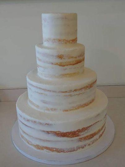 5-tier naked wedding cake