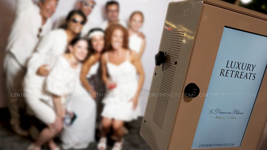 Group in the photo booth