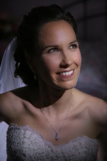 Glowing bridal beauty