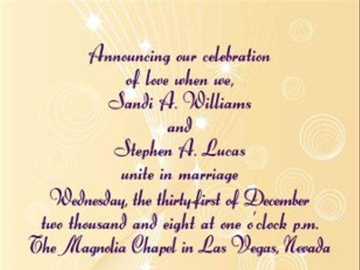 Tmx 1259639510770 LucasWeddingAnnouceSide2 Shelton wedding invitation