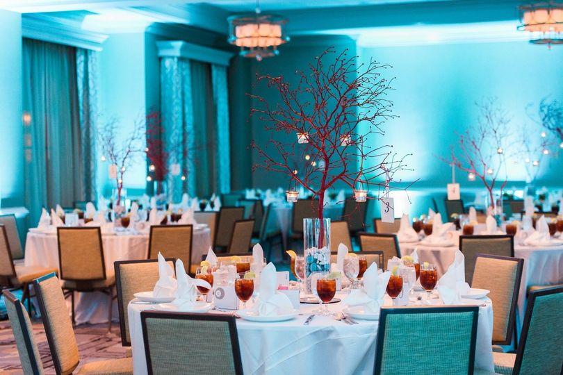 Ballroom with Blue Uplights