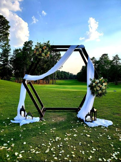 Geometric wedding arbor