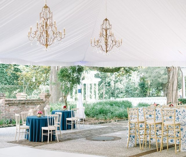 Double tiered chandeliers