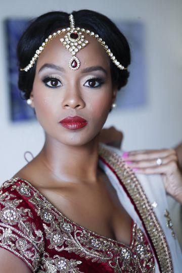 The bride's look