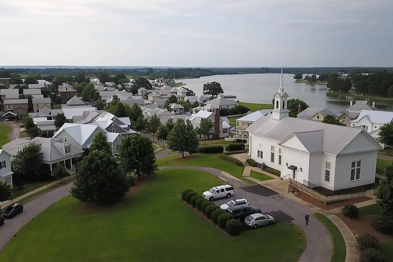 Church Drone Footage