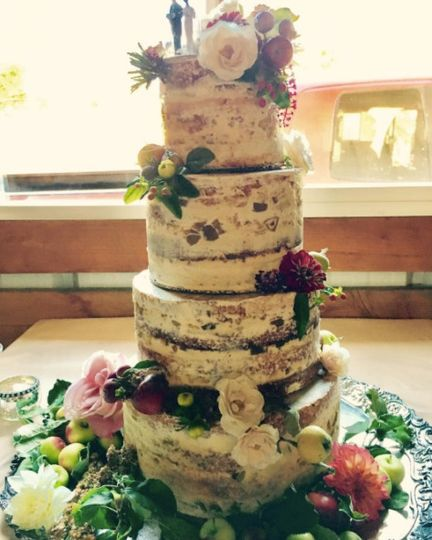 Tall semi naked cake