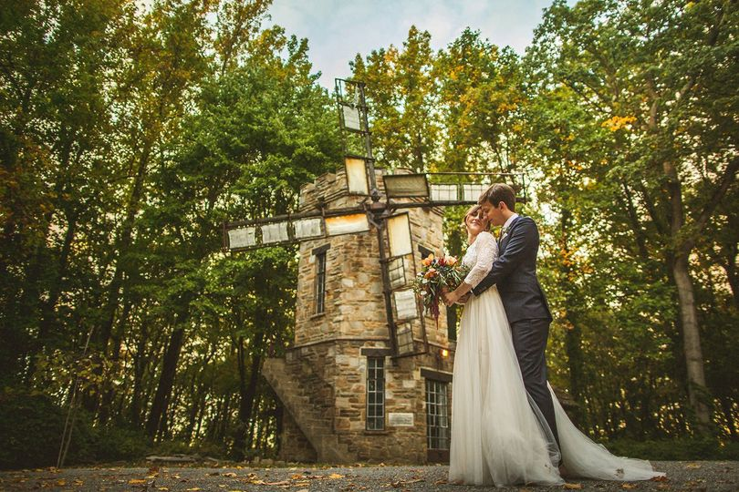 Couple at windmill