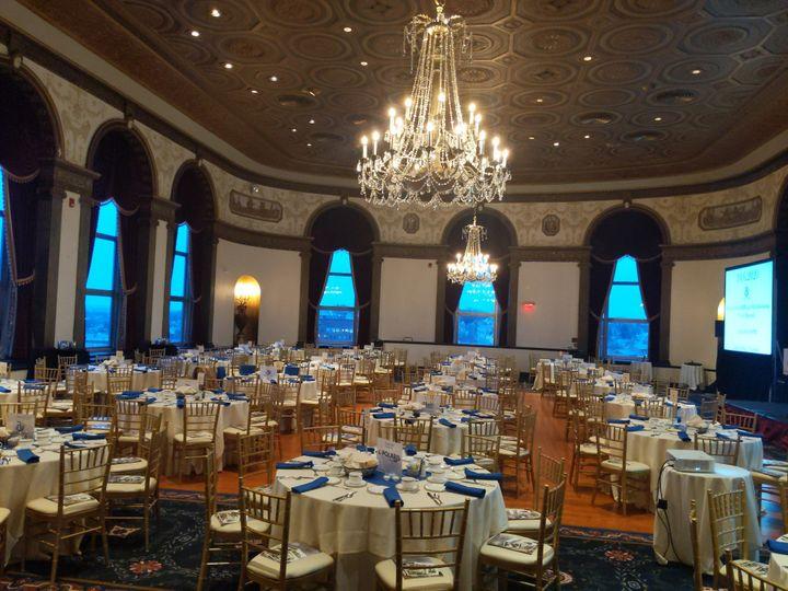 Palatial reception setting