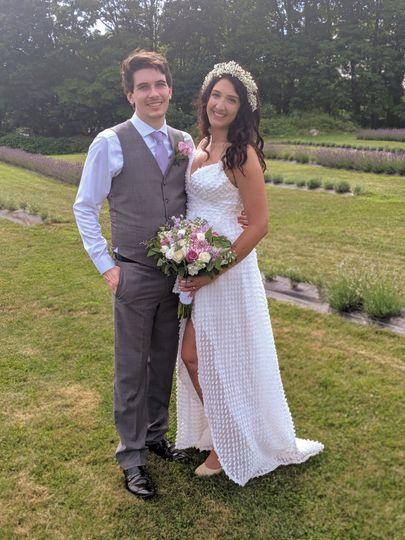 Couple at the Lavender Farm