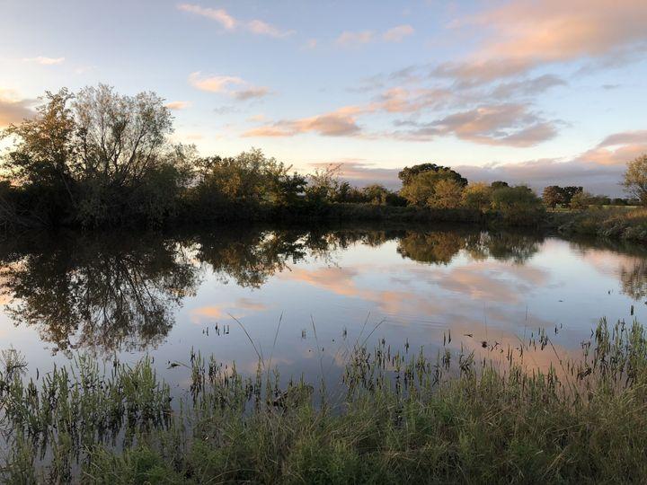 Sunset on the pond