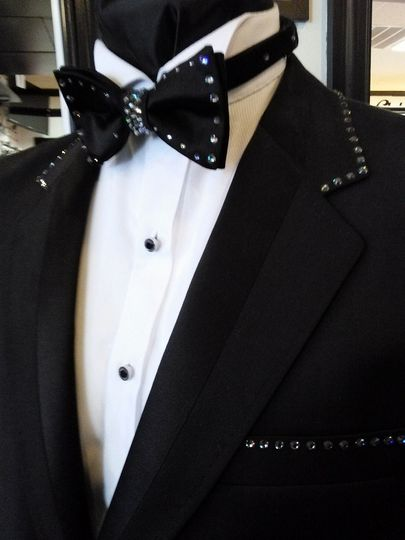 Custom Swarvoski Crystal Tuxedos Made to Order - Allow 30 days for delivery