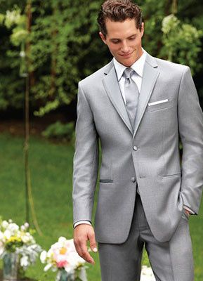 The Perry Ellis Madison Grey Tuxedo is sure to please for nay ocassion!  Craftred from Super100's...