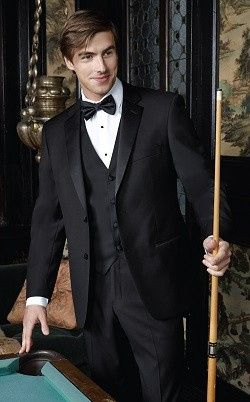 The Identity is a beautiful Super 150's fabric 2-button notch tuxedo that will clean up well on...