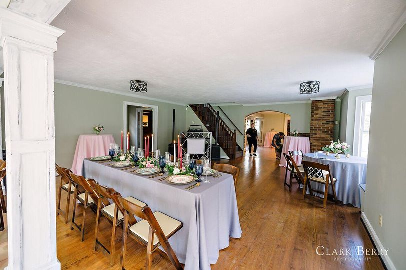 The main banquet room